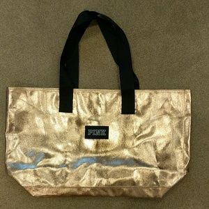 Victoria Secret Pink bronze large tote